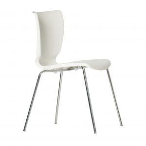 hospitality chair with four chrome legs