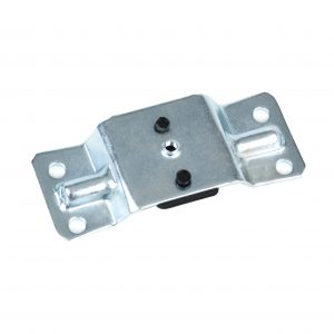 hinge plate with rubber stop for office chair