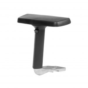office chair armrest with polished arm
